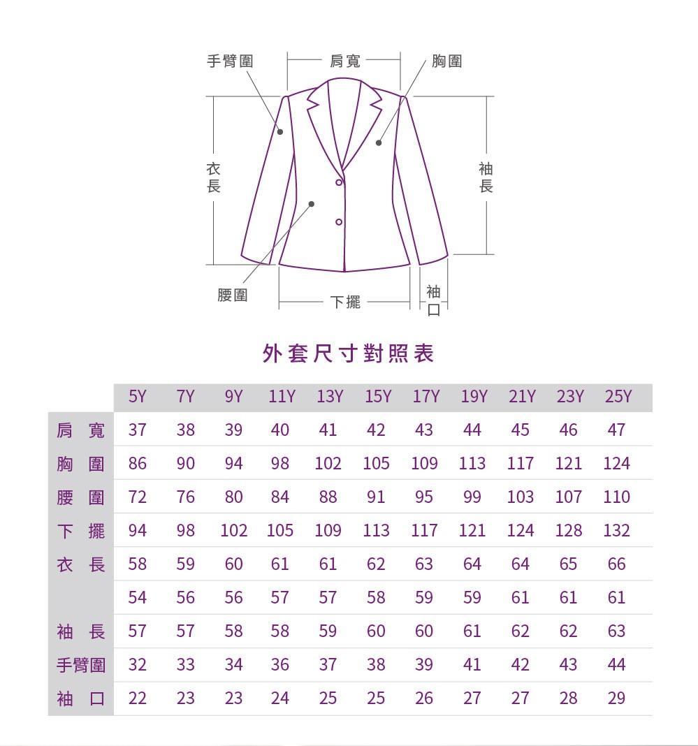 西裝外套-尺寸-尺碼